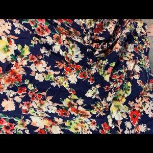 Cinched waist floral dress